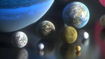 Comparando o tamanho de planetas da ficção