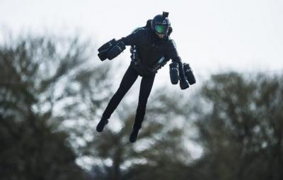 Recorde de velocidade de traje voador