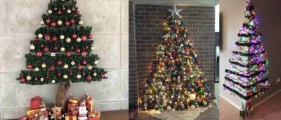Arvores de Natal de parede, para que tem pouco espaço