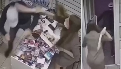 Ladrão apanha com consolo ao tentar assaltar sex shop