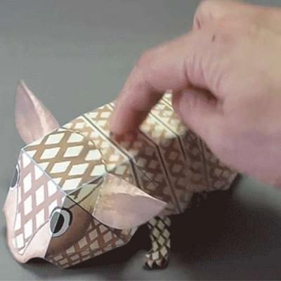 Origami de Tatu Bola