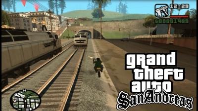GTA San Andreas #14 Lado errado dos trilhos