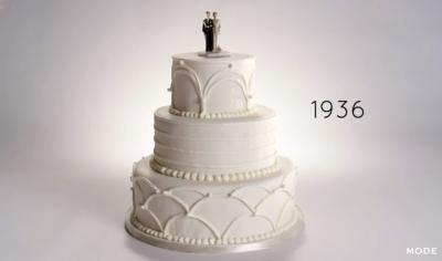 100 anos de bolos de casamento em 2 minutos