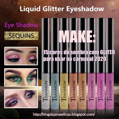 Make: 15 cores de sombras com gliter para usar no carnaval 2020