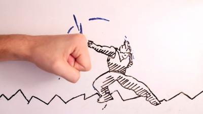 Artista batalha seu próprio desenho nesse Stop Motion incrível