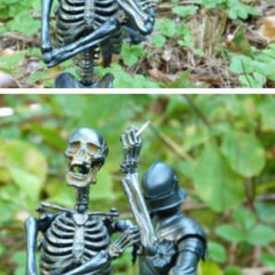 Vida de Esqueleto deve ser difícil