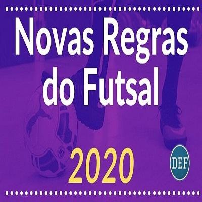 15 novas regras do futsal 2020