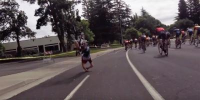 Drone causa acidente em corrida de bicicletas