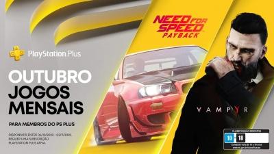 Playstation Plus - Revelados os jogos grátis do mês de outubro de 2020