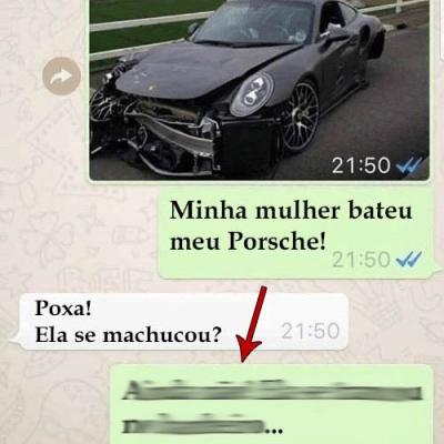 Minha mulher bateu meu Porsche!