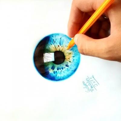 Você não vai acreditar nesses desenhos do olho humano