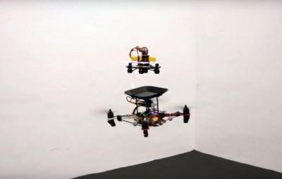 Pesquisadores criam bateria voadora para manter drones no ar para sempre