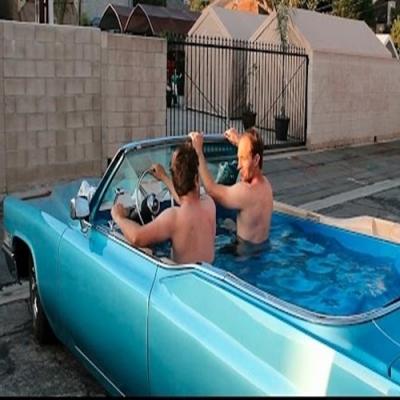 A banheira de hidromassagem sobre rodas