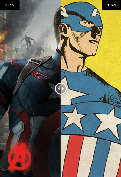 Vingadores antes e depois