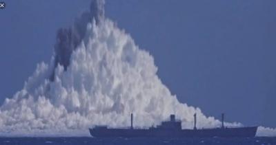 Confira como é uma explosão nuclear debaixo d'água