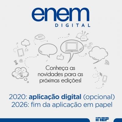 Enem será 100% digital até 2026