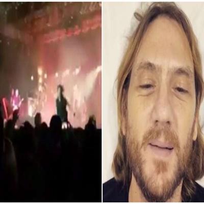 Vídeo mostra ator global caindo de palco durante show da Legião Urbana