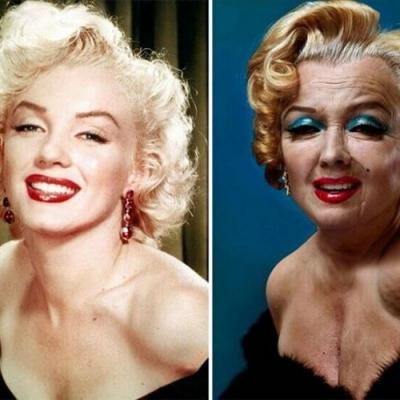 Como seriam as renomadas atrizes do cinema na velhice