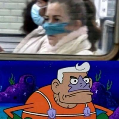 Cuidado para não usar máscara do jeito errado
