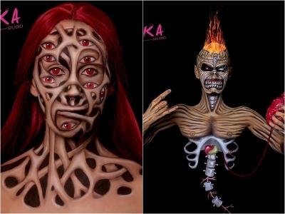 As ilusões de pele malucas de Kika Milosevic