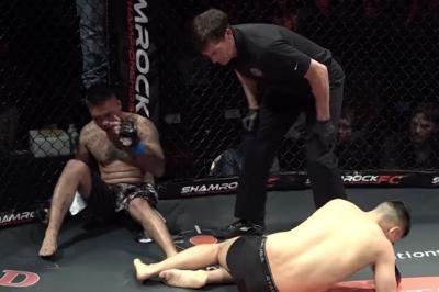 Lutadores de MMA fazem um K.O duplo