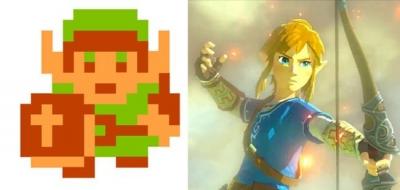 Evolução dos personagens de vídeo-games