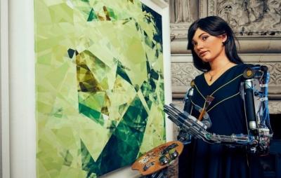 Robô artista de Oxford faz exposição de obras