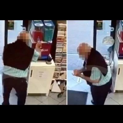Idoso viraliza ao confundir máquina de sorvete raspadinho com dispensador de álc
