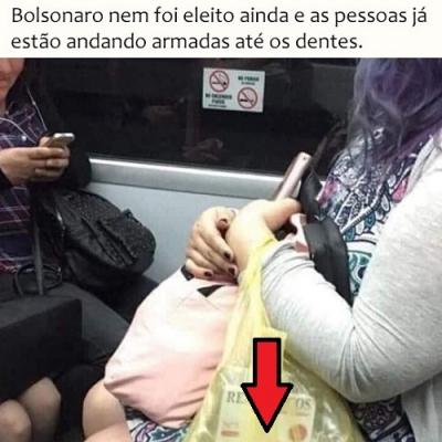 Bolsonaro nem foi eleito ainda e as pessoas já estão andando amardas até os dent