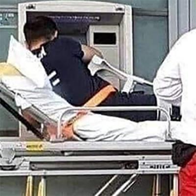 Parando no banco antes do hospital