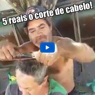 5 reais o corte de cabelo