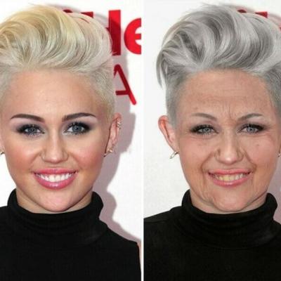 Já imaginou como seriam nossas celebridades favoritas com idade avançada