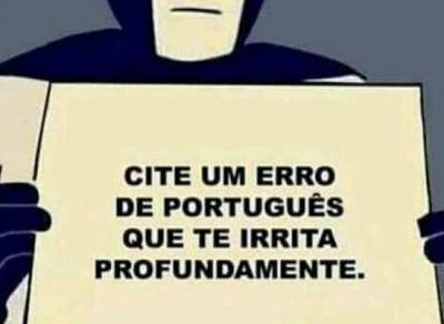 O pior erro de português