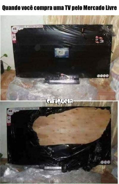 Quando você compra uma TV no Mercado Livre