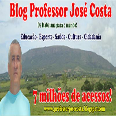 O Blog Professor José Costa alcança a marca de 7 milhões de acessos