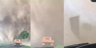 Como é dirigir dentro de um tornado?