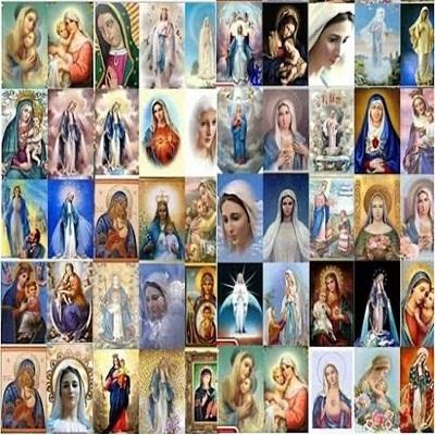 O mapa mundial de aparições da Virgem Maria