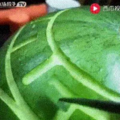 Arte na melancia