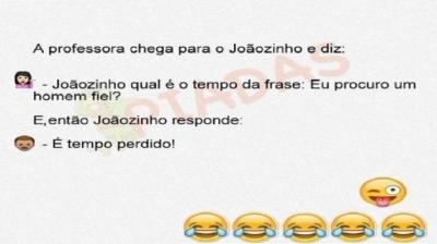 Piadas do Joãozinho - Tempo da frase
