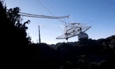 Veja a destruição do Observatório de Arecibo de outro ângulo