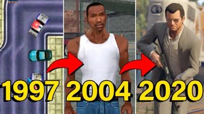 Evolução de todos os jogos do GTA