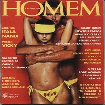 Revista do Homem - foi lançada em agosto de 1975, com um casal na capa