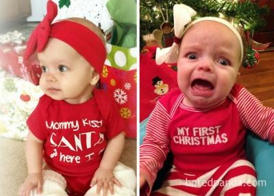 Expectativa Vs Realidade de fotos de bebês - Especial Natal