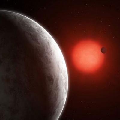 Super-terras orbitando uma anã vermelha nas proximidades