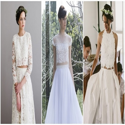 Vestidos de Noiva Estilo Cropped e Anos 60