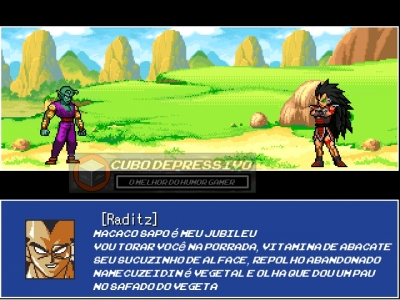 Um confronto épico em Dragon ball