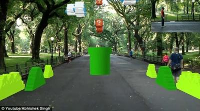 Jogador recria Mario Bros em realidade virtual