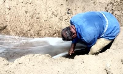 Ligações clandestinas para roubar água