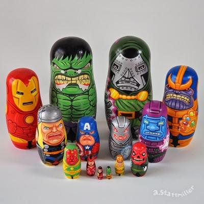 Bonecas russas da cultura pop