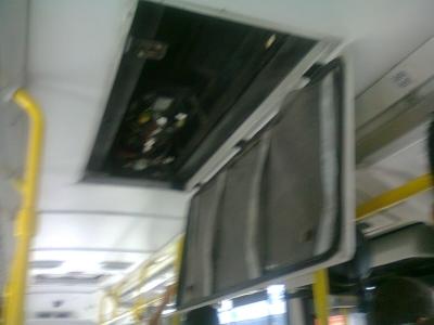 Descaso dentro de um ônibus